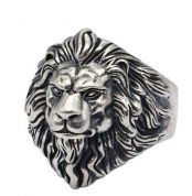 Silver animal and sculls rings (4)
